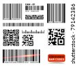 Vector Barcode Label Collection - stock vector