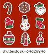Vector Christmas tags for gifts or stickers - stock vector