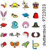 Vector collection of 20 great hats - good for scrapbooks, and updating photos of friends - stock vector