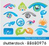 vector collection of vision symbols and icons - stock vector