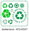 vector recycling symbols - stock vector