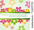 vector  stylish colorful flower background with space for your text - stock vector