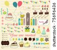 very sweet collection for scrapbooking - stock vector