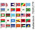 World flag icons set over white background no 5 - stock vector